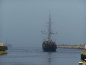 Statek w porcie Darłówko