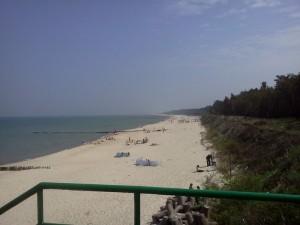 część plaży głównej w Jarosławcu