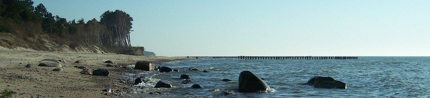 głazy w morzu koło Wicia