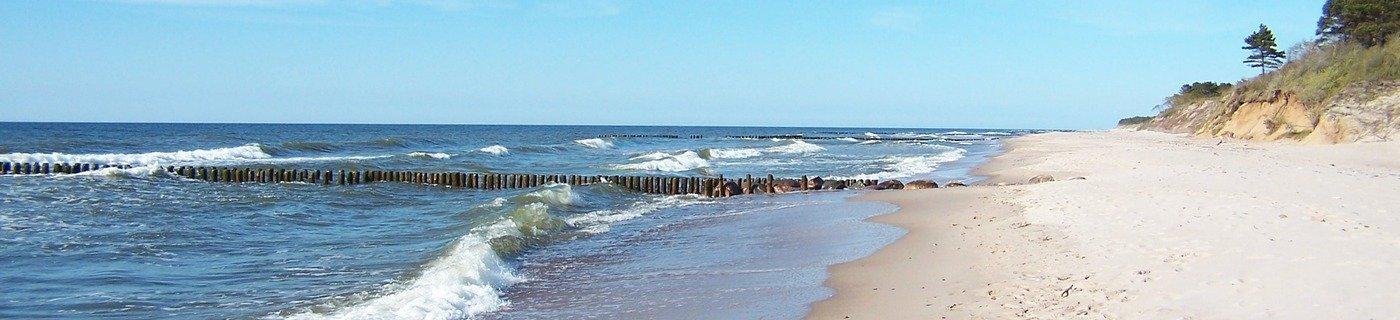 słoneczna plaża okolic Wicia