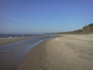 Odcinek plaży wicie Jarosławiec