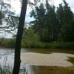przekop jeziora Kopań koło Wicie