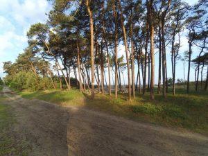 miejsce przerwania mierzei jeziora Kopań przez morze
